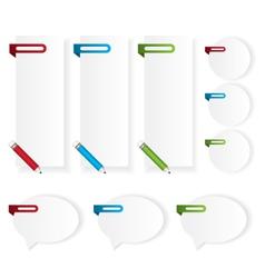 Labels stickers bubble speech vector image