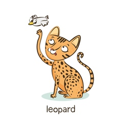 Leopard cat Cat character isolated on white vector