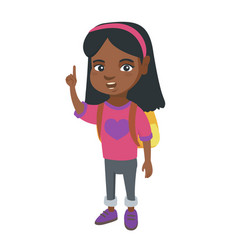 little african girl pointing her forefinger up vector image vector image