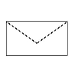 Mail the black color icon vector