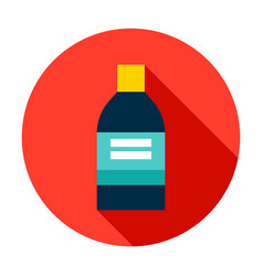 medical bottle circle icon vector image