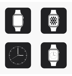 Modern smartwatch icons set vector