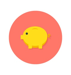 Money Pig Flat Icon vector