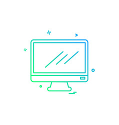 monitor icon design vector image