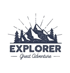 Outdoor explorer badge Retro of vector
