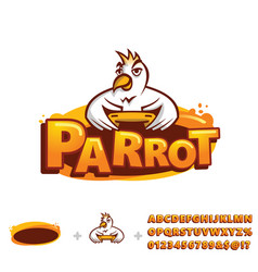 parrot mascot template vector image