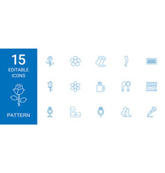 Pattern icons vector