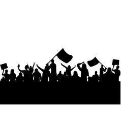 People crowd protest strike demonstration vector