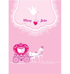 Pink Greeting Card with a lace ornament vector