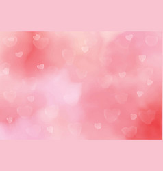 pink watercolor blurred heart bokeh background vector image