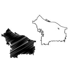 Portland city map vector