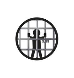 Prisoner in the prison vector