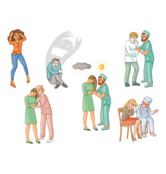 Psychiatric help for people with mental disorders vector