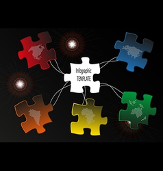 Puzzle map vector image