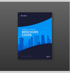 real estate brochure cover design layout vector image