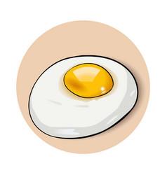 scrambled eggs omelette vector image