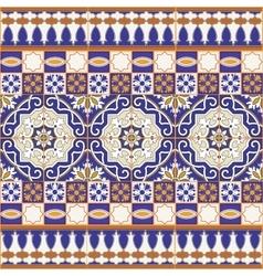 Seamless Moroccan tiles vector