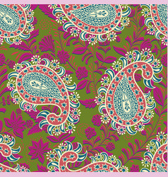 seamless oriental pattern paisley and vector image