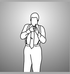 serious businessman with suspenders or braces vector image