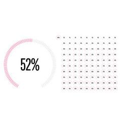 Set circular sector percentage diagrams from 0 vector