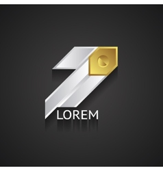 Silver and Gold Business Logo vector