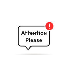 simple linear attention please bubble vector image
