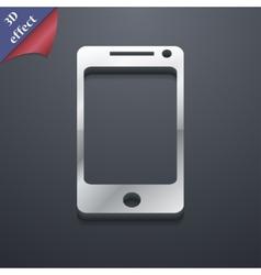 Smartphone widescreen icon symbol 3D style Trendy vector