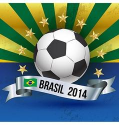 Soccer poster brazil 2014 vector image
