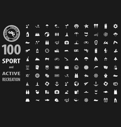 Sport icons paper set vector