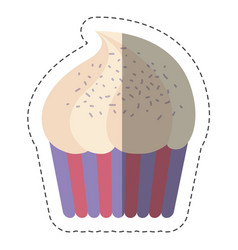 sweet cupcake icon vector image