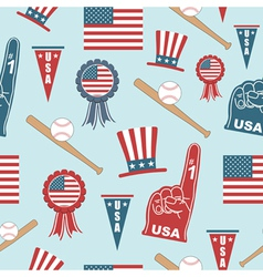 usa baseball pattern vector image