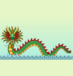 water dragon seamless border vector image