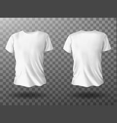 White t-shirt mockup t shirt with short sleeves vector