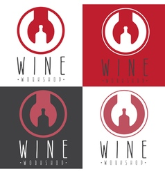Wine workshop negative space concept with wrench vector
