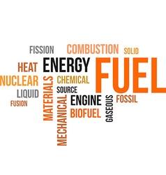 Word cloud fuel vector