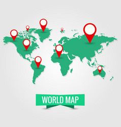 world map travel journey trip vector image