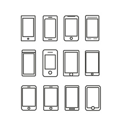 Abstract different mobile gadgets collection vector image vector image