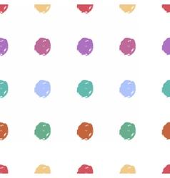 Hand drawn dots seamless pattern image vector image