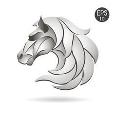 horse head logo emblem symbol for business vector image
