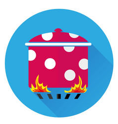 Icon pot on the fire vector