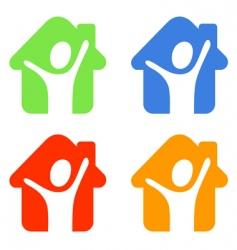 pictogram happy vector image