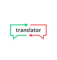 simple thin line translator logo vector image