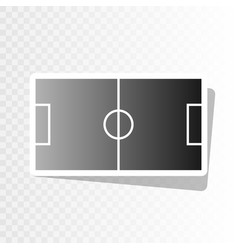 soccer field new year blackish icon on vector image vector image