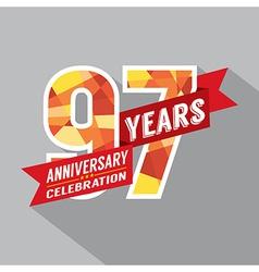 97th Years Anniversary Celebration Design vector image