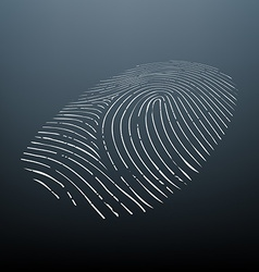 Biometric data Stock vector image