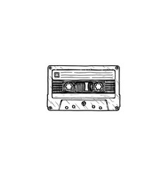 Compact tape cassette vector