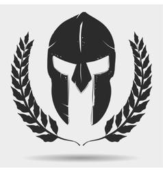 Gladiator helmet with laurel wreath vector