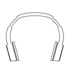 Headphones the black color icon vector