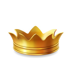 isolated gold crown vector image