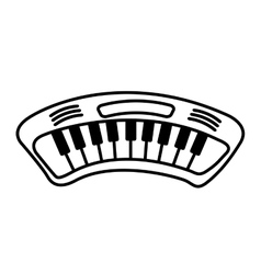piano drawn isolated icon vector image